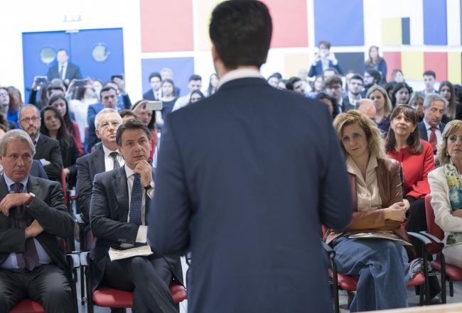 """Il Presidente Conte alla cerimonia di firma dell'accordo """"Laboratori congiunti Cnr/Eni"""""""