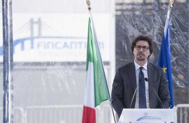 """Il Ministro Toninelli all'inaugurazione dello stabilimento """"Fincantieri Infrastructure"""""""