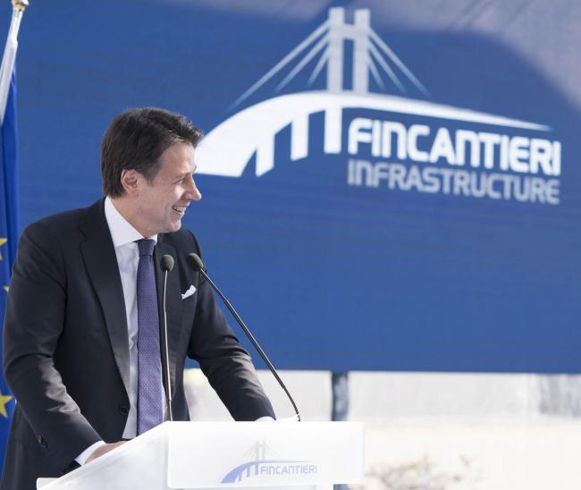 """Il Presidente Conte all'inaugurazione dello stabilimento """"Fincantieri Infrastructure"""""""