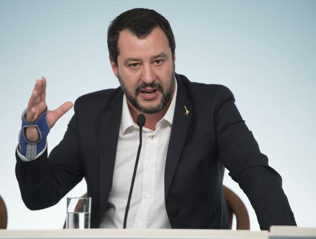 Il Vice Presidente, Matteo Salvini, in conferenza stampa