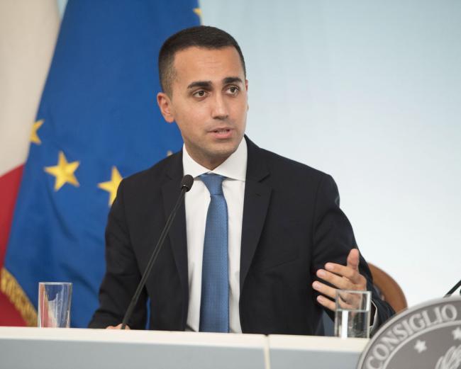 Il Vice Presidente, Luigi Di Maio, in conferenza stampa