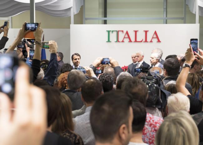 Saluto agli imprenditori italiani all'Expocentre