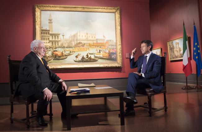 Intervista con l'Agenzia TASS al Museo Pushkin