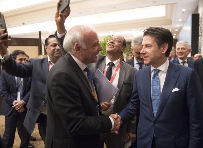 Il Presidente Conte all'India-Italy Technology Summit
