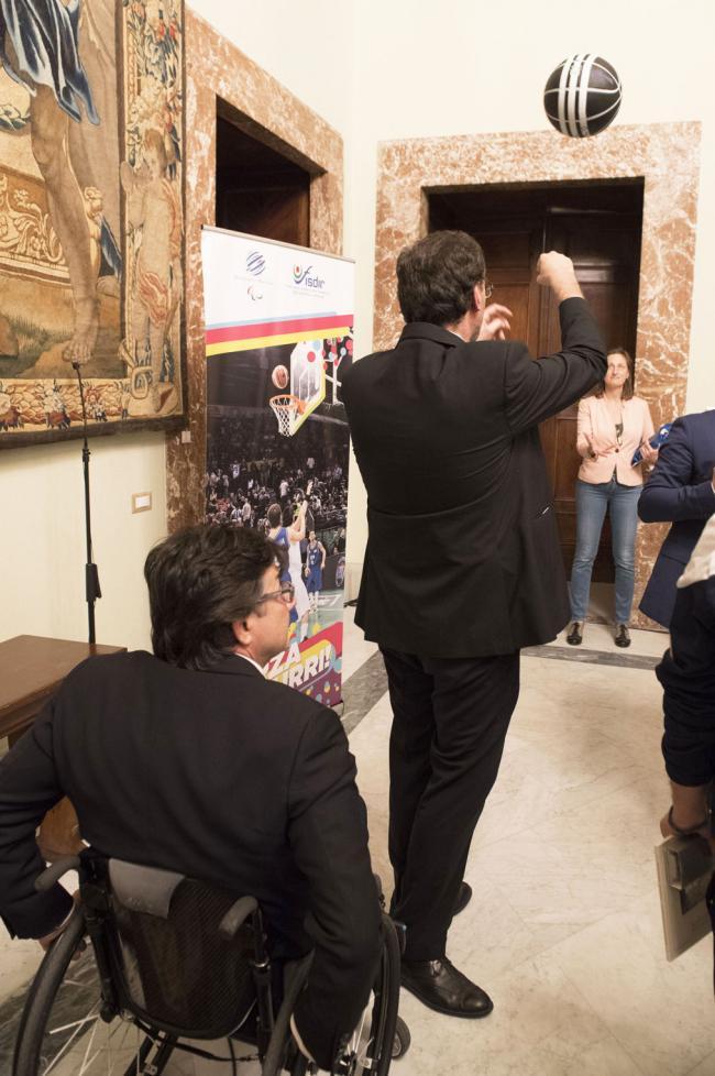Sport paralimpici, la Nazionale di basket campione del mondo a Palazzo Chigi