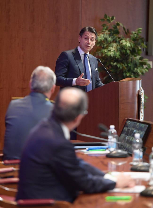 Il Presidente Conte all'inaugurazione dell'Anno di Studi 2018/2019 della Guardia di Finanza