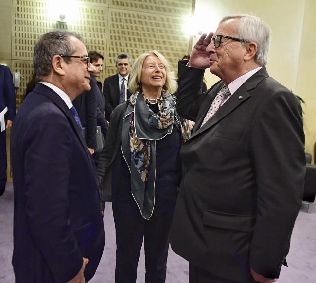 Il Ministro Tria incontra il  Presidente della Commissione Europea Juncker