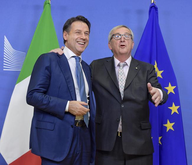 Il Presidente Conte incontra il  Presidente della Commissione Europea Juncker