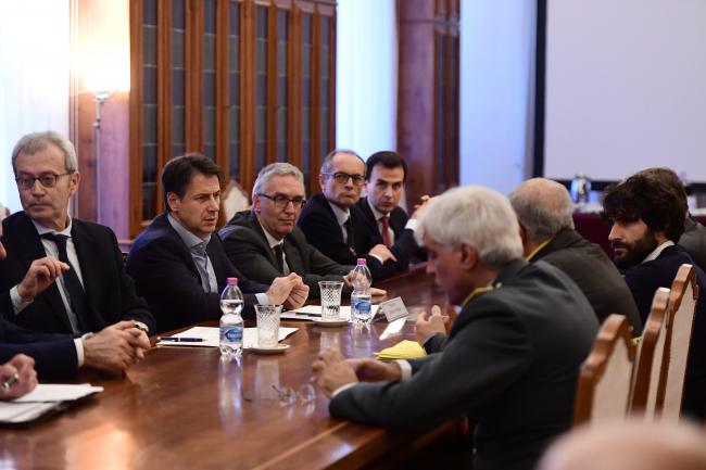 Il Presidente Conte in Prefettura ad Ancona