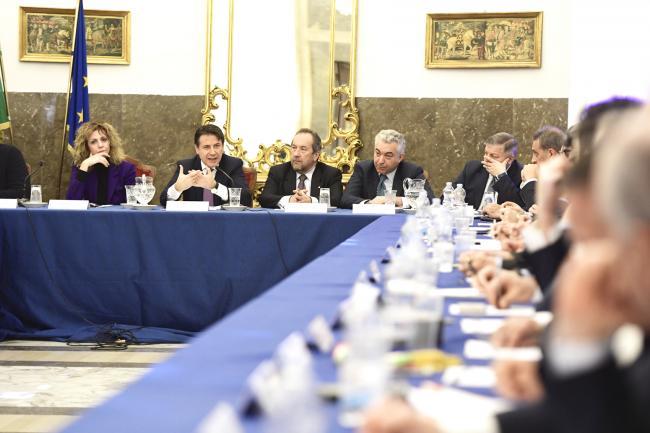 Il Presidente Conte e il Ministro Lezzi a Foggia per il Piano di sviluppo istituzionale per la Capitanata