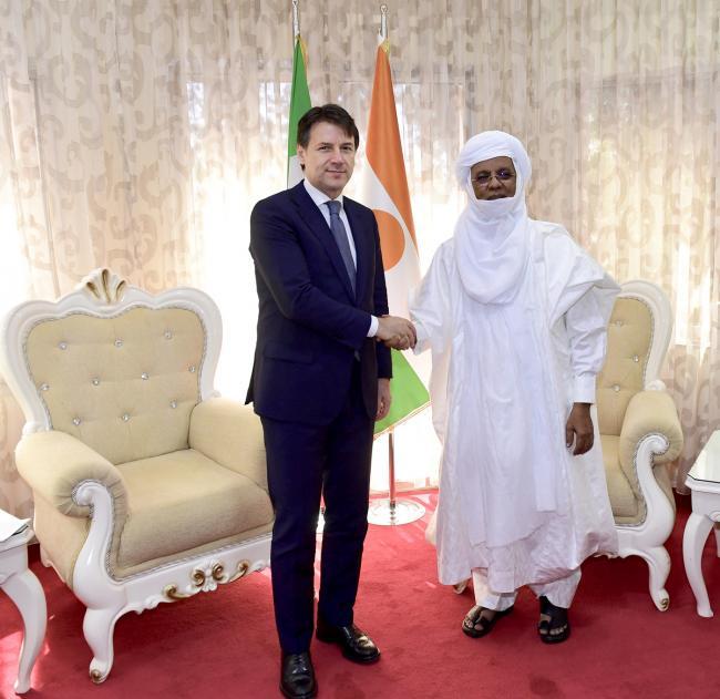 Il Presidente Conte con il Primo Ministro della Repubblica del Niger