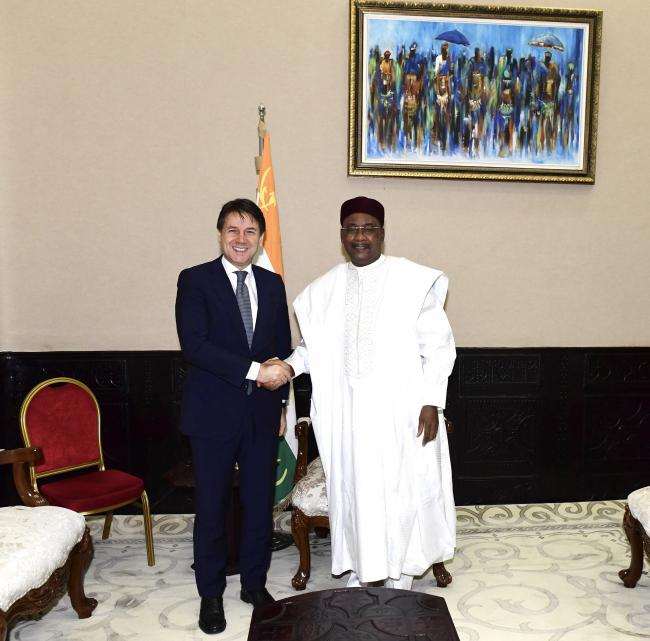 Il Presidente Conte con il Presidente della Repubblica del Niger