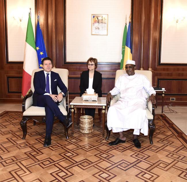 Conte incontra il Presidente della Repubblica del CiadIdriss Déby