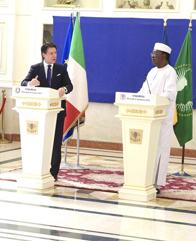Dichiarazioni alla stampa con il Presidente della Repubblica del Ciad