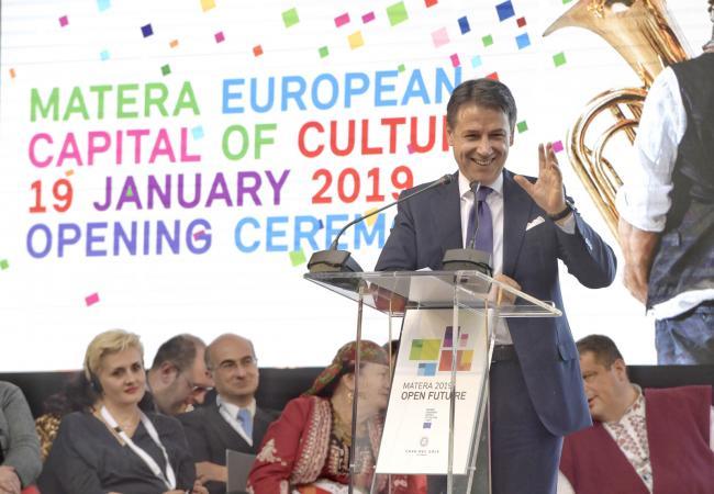 Matera 2019, il Presidente Conte interviene alla cerimonia inaugurale