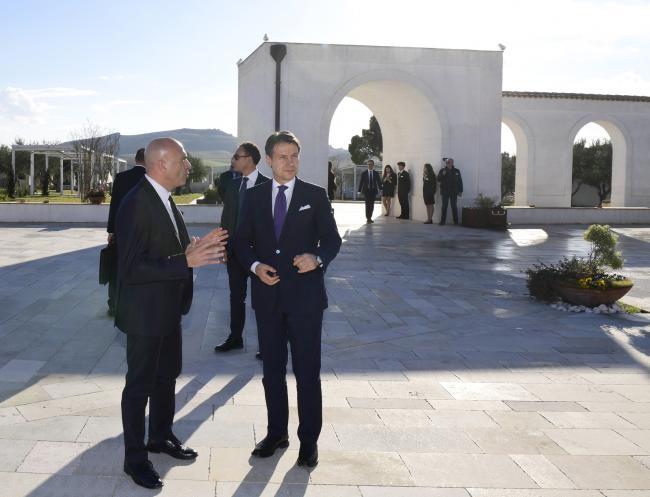 Matera 2019, il Presidente Conte visita una masseria