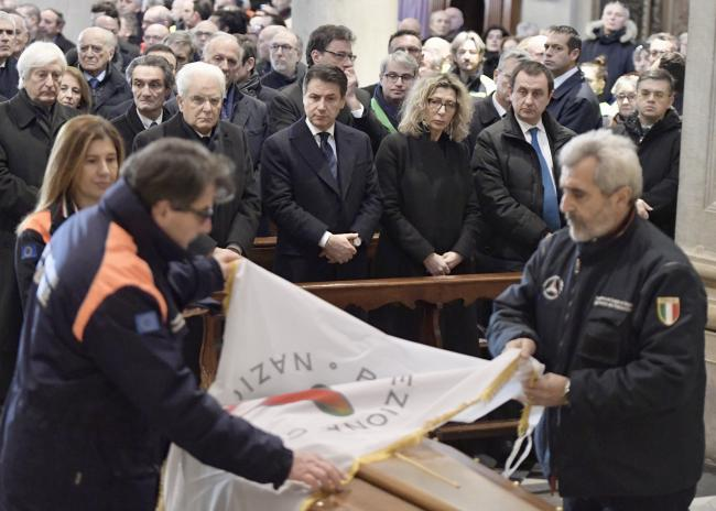 Conte ai funerali di Stato dell'on. Zamberletti