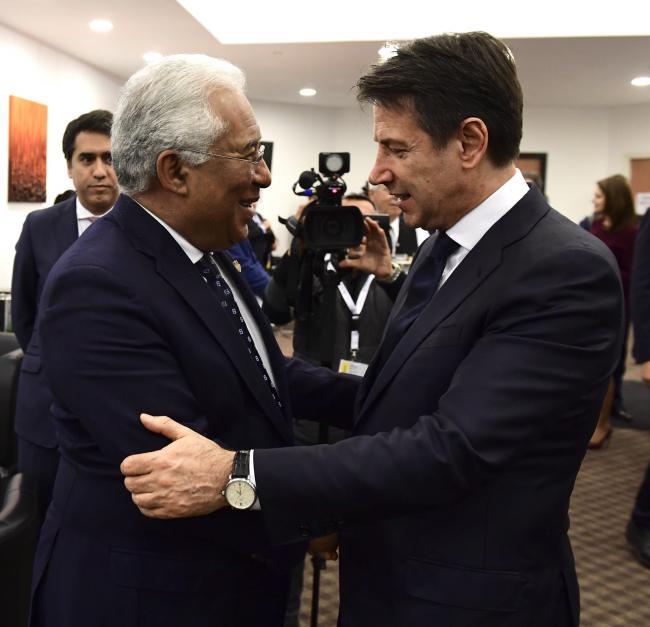 Il Presidente Conte con il Primo Ministro portoghese, António Costa