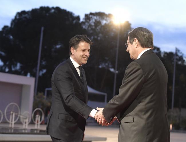 Il Presidente Conte con il Presidente della Repubblica di Cipro Nicos Anastasiades