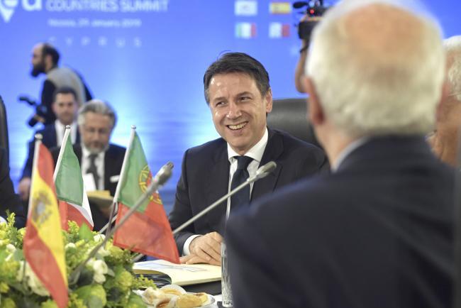 Il Presidente Conte al Vertice dei Paesi del Sud dell'Unione europea
