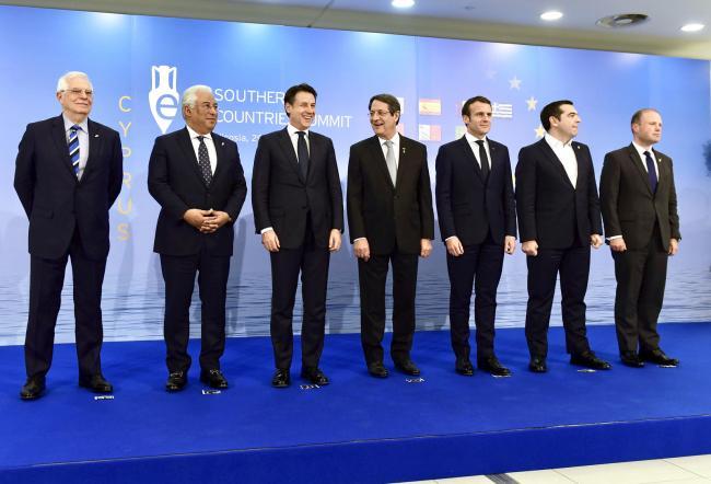 Vertice dei Paesi del Sud dell'Unione europea, la Foto di famiglia