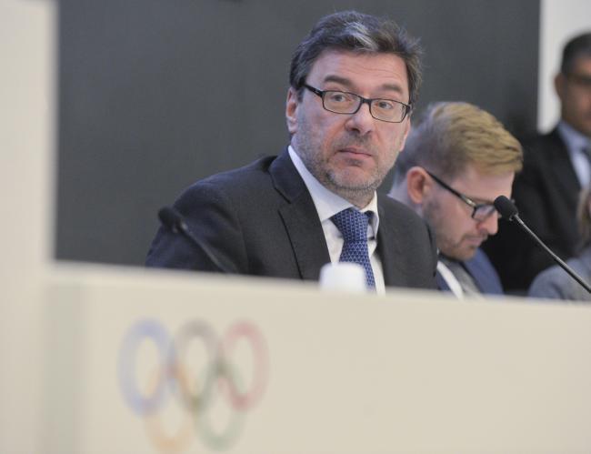Il Sottosegretario Giorgetti alla presentazione della riforma dello sport