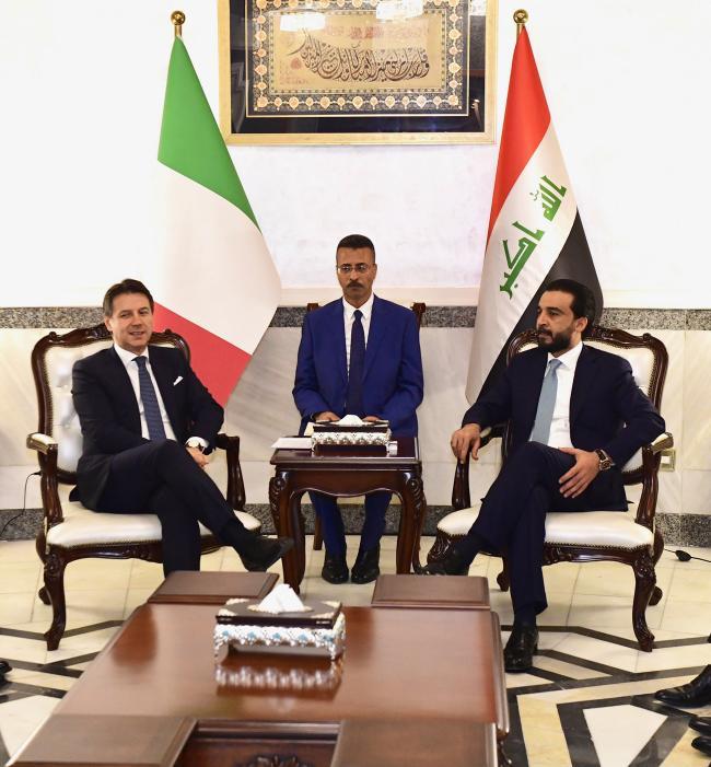 Il Presidente Conte con il Presidente del Consiglio dei Rappresentanti