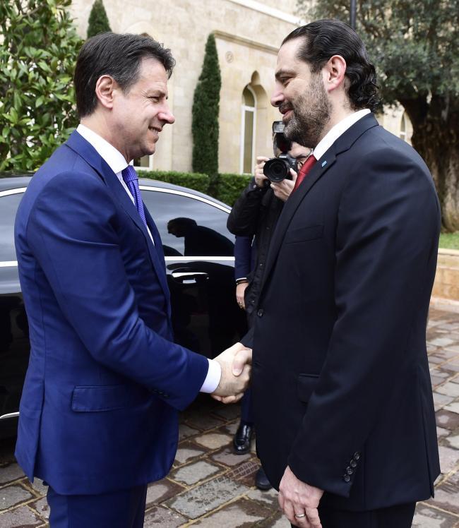 Conte incontra Saad Hariri