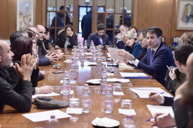Il Presidente Conte incontra una delegazione di pastori sardi