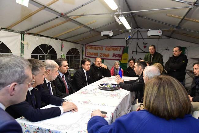 Il Presidente Conte incontra il Comitato Abitanti ai Confini della Zona Rossa