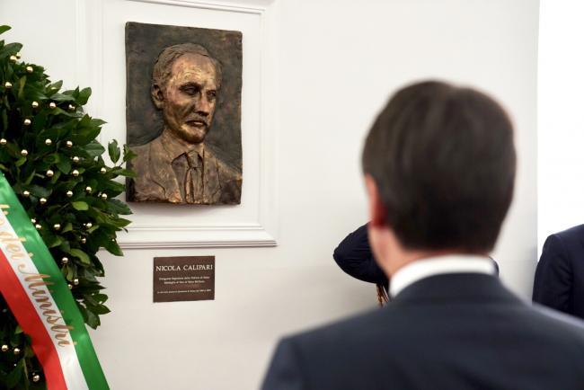 Anniversario della morte di Nicola Calipari, il Presidente Conte alla Questura di Roma