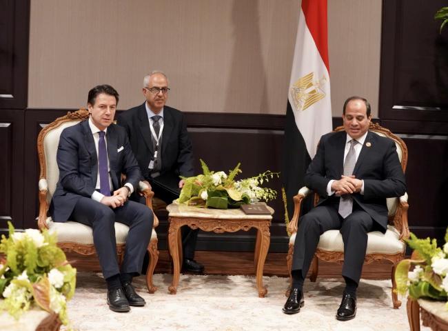 Incontro bilaterale con il Presidente dell'Egitto