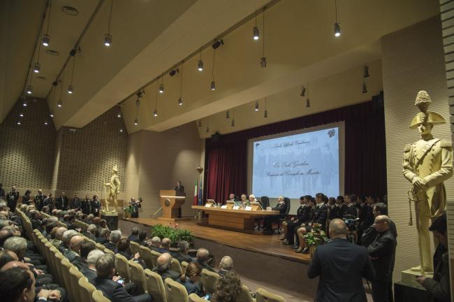 Gentiloni all'inaugurazione dell'Anno accademico 2017-2018 della Scuola Ufficiali dei Carabinieri