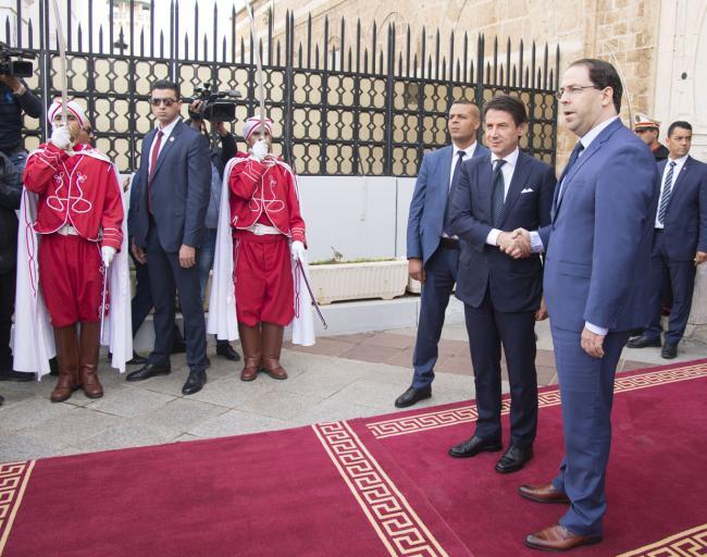 Conte incontra il Primo Ministro Youssef Chahed