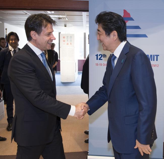 Incontro bilaterale Conte -  Abe