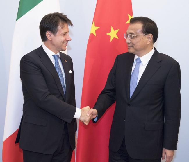 Conte con il Primo Ministro Li Keqiang