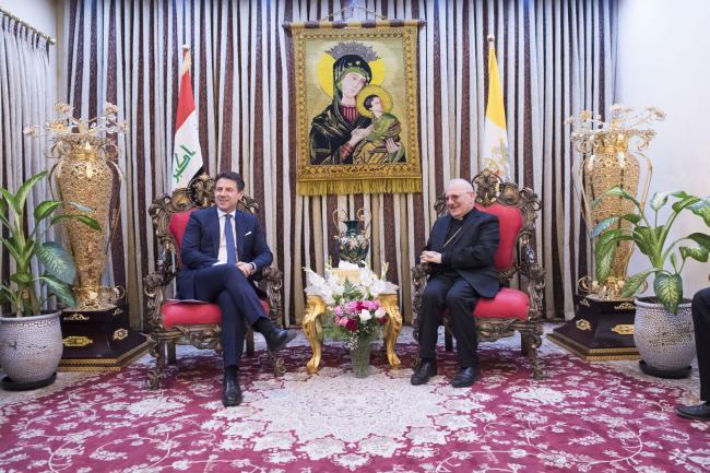 Il Presidente Conte incontra il Cardinale Louis Raphael Sako