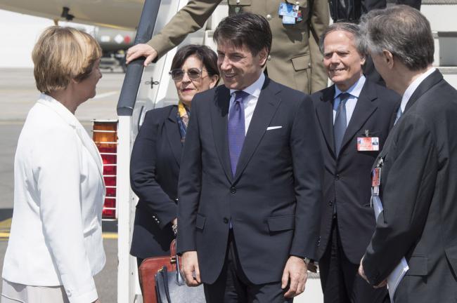 Vertice Nato, il Presidente Conte al suo arrivo a Bruxelles