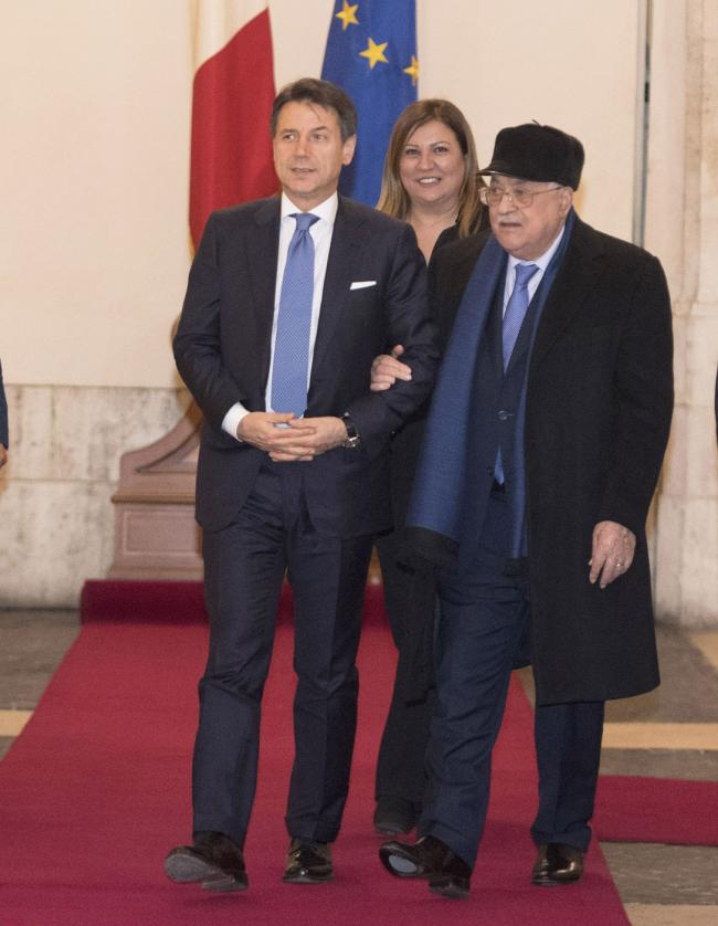 Il Presidente Conte incontra il Presidente della Palestina Mahmoud Abbas