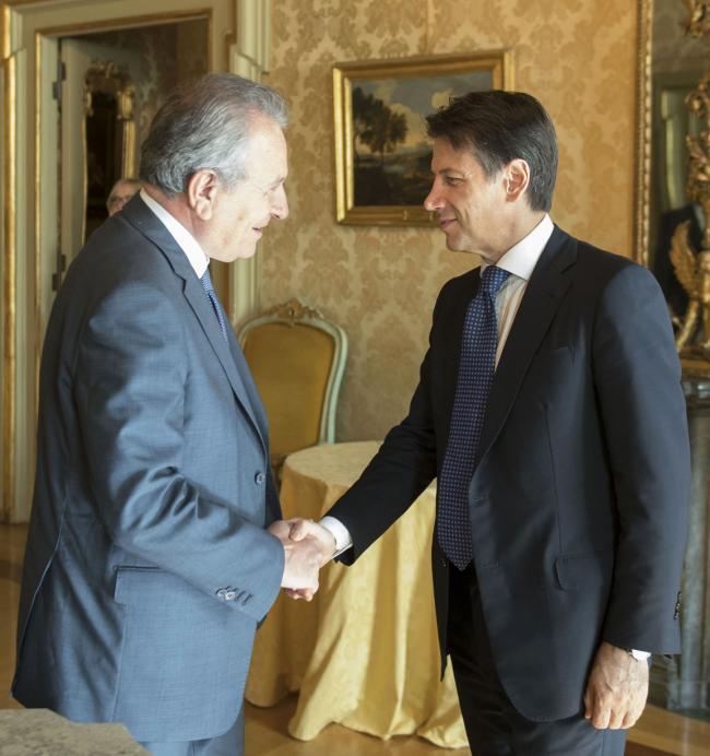 Il Presidente Conte riceve Buscema