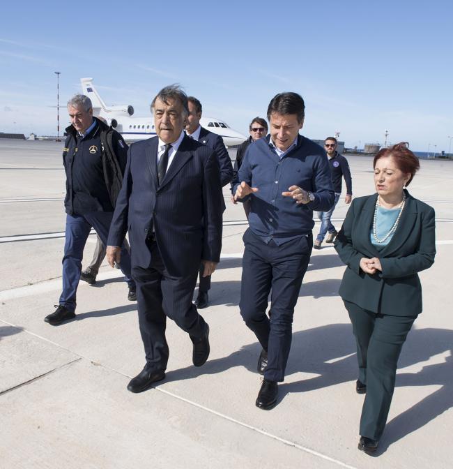 Maltempo, il Presidente Conte in Sicilia