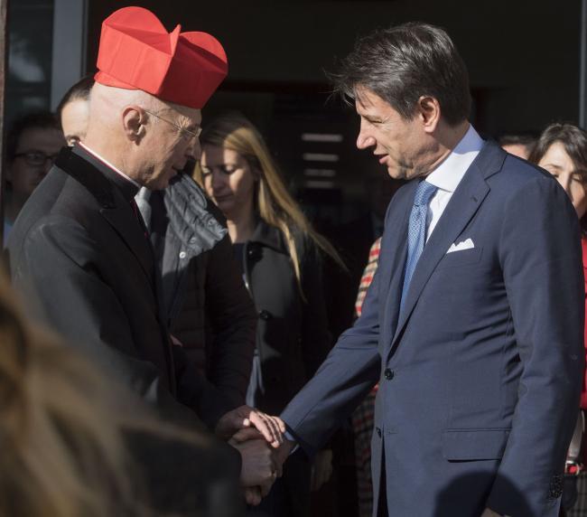 Il Presidente Conte all'Istituto Giannina Gaslini