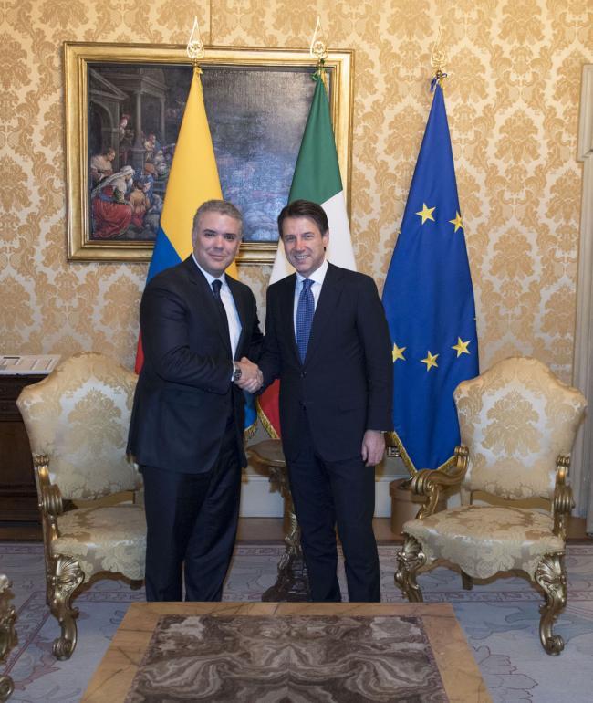 Il Presidente Conte incontra Ivan Duque Marquez