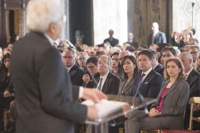 Quirinale, il Presidente Conte alla celebrazione del Giorno del Ricordo