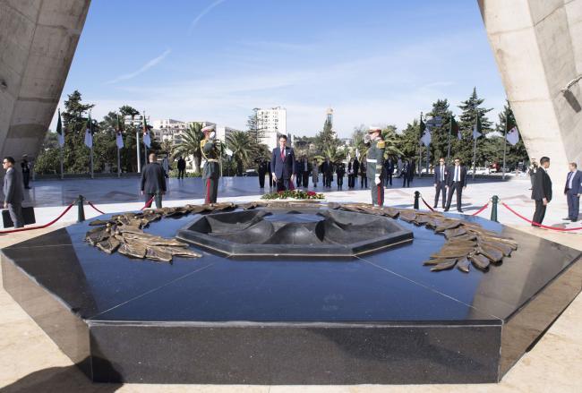 Il Presidente Conte al Monumento ai Martiri della Rivoluzione
