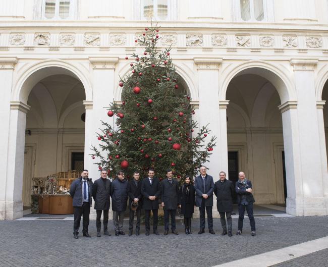 Un albero di Natale della Val Visdende a Palazzo Chigi
