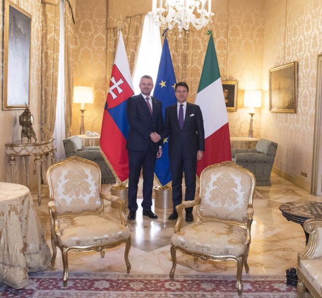 Conte incontra il Primo Ministro della Repubblica Slovacca
