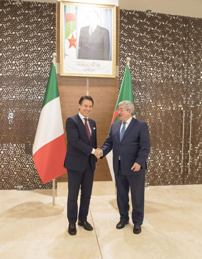 Il Presidente Conte con il Primo Ministro Ouyahia