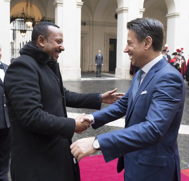 Il Presidente Conte incontra il Primo Ministro Abiy Ahmed Ali