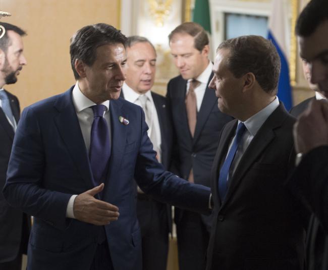 Incontro con il Primo Ministro della Federazione Russa Dimitri Medvedev